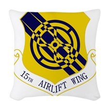 15th Airlift Wing Woven Throw Pillow