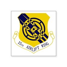"""15th Airlift Wing Square Sticker 3"""" x 3"""""""