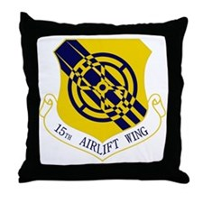 15th Airlift Wing Throw Pillow