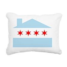 Chicago House Flag Rectangular Canvas Pillow