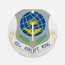 62nd Airlift Wing Round Ornament