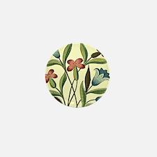 Vintage Flower Bluebell Floral Decorat Mini Button