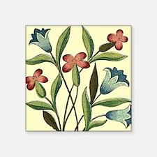 "Vintage Flower Bluebell Flo Square Sticker 3"" x 3"""