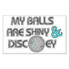 Shiny Disco Balls Stickers