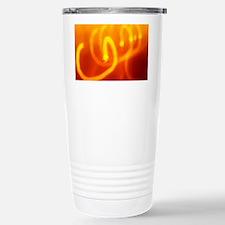 Light trails abstract Travel Mug