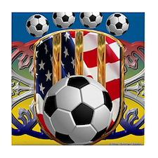 SoccerPower_USA_mpad Tile Coaster