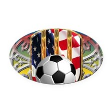 SoccerPower_USA_mpad Oval Car Magnet