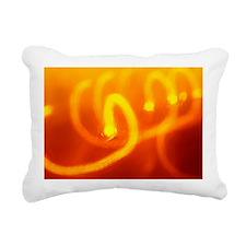 Light trails abstract Rectangular Canvas Pillow