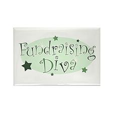"""Fundraising Diva"" [green] Rectangle Magnet"