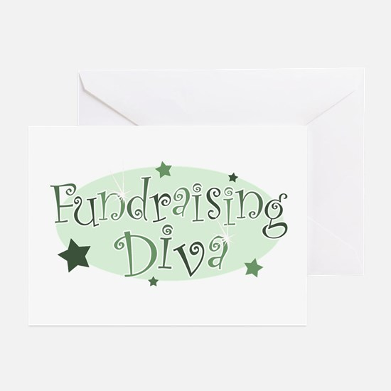 """""""Fundraising Diva"""" [green] Greeting Cards (Package"""