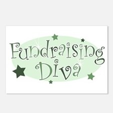 """""""Fundraising Diva"""" [green] Postcards (Package of 8"""