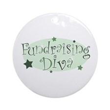 """Fundraising Diva"" [green] Ornament (Round)"