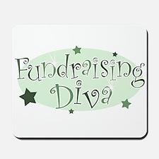 """""""Fundraising Diva"""" [green] Mousepad"""