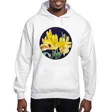 Painted Yellow Peruvian Lilies Hoodie