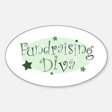 """""""Fundraising Diva"""" [green] Oval Decal"""