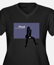 College Humor tees iPood Woman Women's Plus Size V