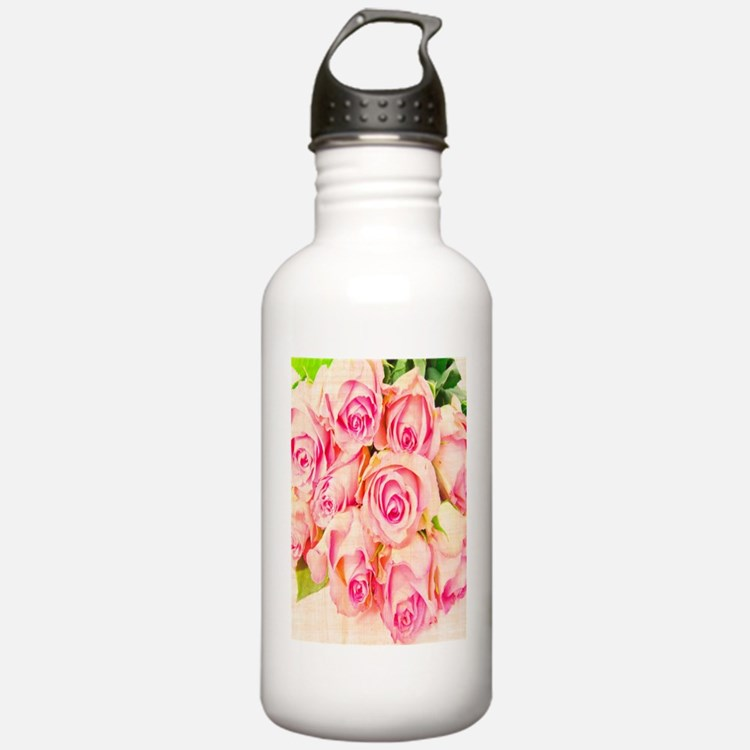 Vintage Hybrid Tea Ros Water Bottle