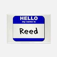 hello my name is reed Rectangle Magnet