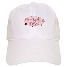 """""""Firefighting Diva"""" [red] Baseball Cap"""