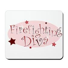 """Firefighting Diva"" [red] Mousepad"
