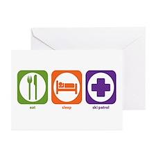 Eat Sleep Ski Patrol Greeting Cards (Pk of 10)