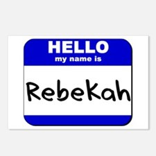 hello my name is rebekah  Postcards (Package of 8)