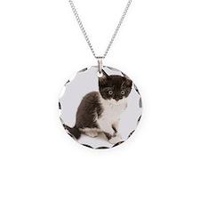 Cute Tuxedo Kitten Necklace