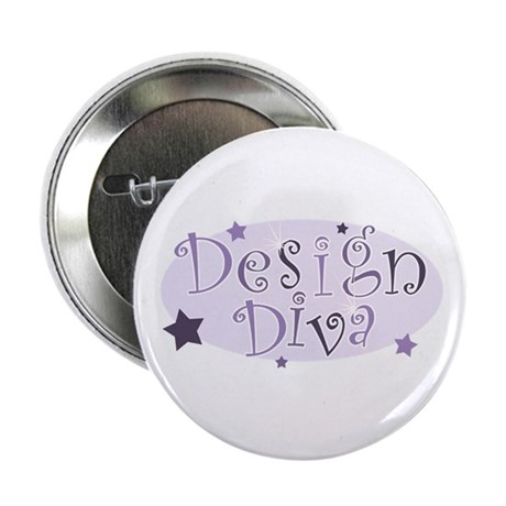 """Design Diva"" [purple] Button"