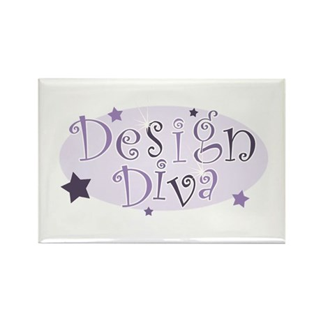 """Design Diva"" [purple] Rectangle Magnet"