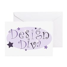 """""""Design Diva"""" [purple] Greeting Cards (Package of"""