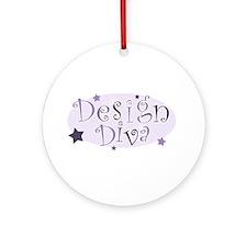 """""""Design Diva"""" [purple] Ornament (Round)"""