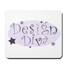 """Design Diva"" [purple] Mousepad"
