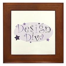 """Design Diva"" [purple] Framed Tile"