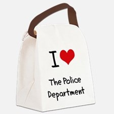 I Love The Police Department Canvas Lunch Bag