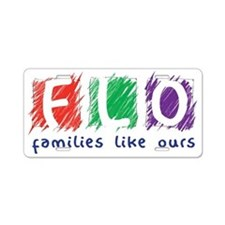 Families Like Ours Logo Aluminum License Plate