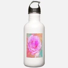 Shimmering Pink Rose Water Bottle