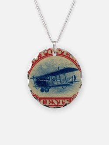 Curtiss Jenny 1918 24c US st Necklace