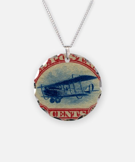 Curtiss Jenny 1918 24c US st Necklace