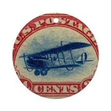 Curtiss Jenny 1918 24c US stamp Round Ornament