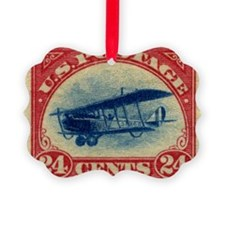 Curtiss Jenny 1918 24c US stamp Ornament