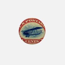 Curtiss Jenny 1918 24c US stamp Mini Button