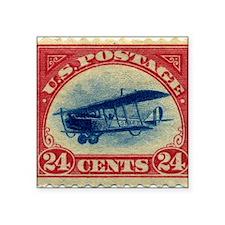"""Curtiss Jenny 1918 24c US s Square Sticker 3"""" x 3"""""""