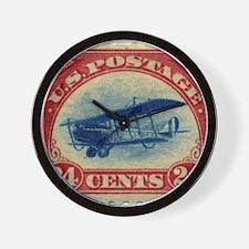 Curtiss Jenny 1918 24c US stamp Wall Clock