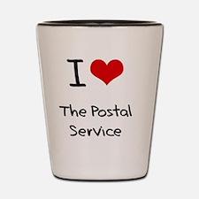 I Love The Postal Service Shot Glass