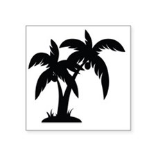 "Palm Tree Square Sticker 3"" x 3"""