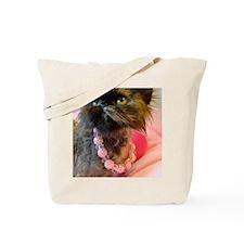 Freida wearing her pink pearls. Tote Bag