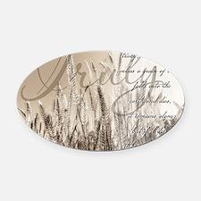 Grain of wheat Oval Car Magnet