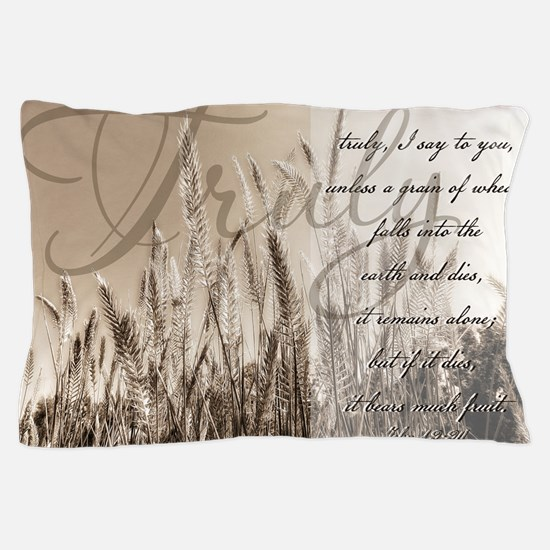 Grain of wheat Pillow Case