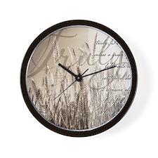 Grain of wheat Wall Clock