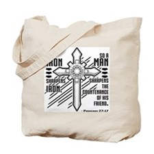 Iron Sharpens Iron Tote Bag